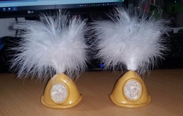 Completed ear cuffs and tufts