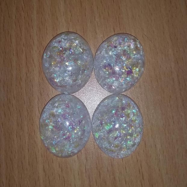 Faux white opals